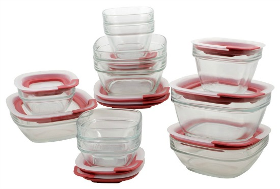 Rubbermaid Easy Find Lid Glass Food Storage Set 22 piece