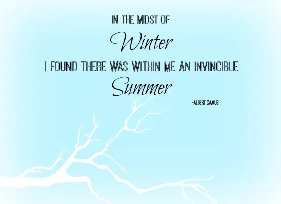 quotes - in the midst of winter