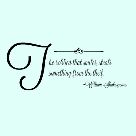 quotes - the robbed that smiles