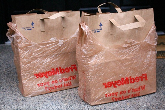 using paper bags instead of buying garbage bags