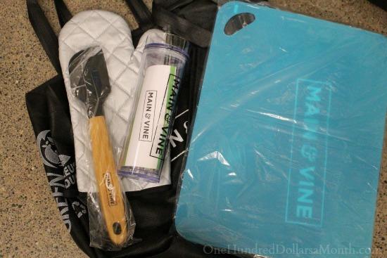 main and vine grand opening freebie bag