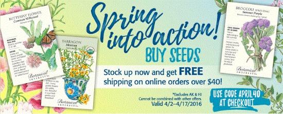 botanical interests coupon
