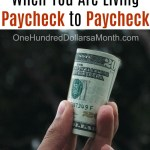 How to Save When You Are Living Paycheck to Paycheck