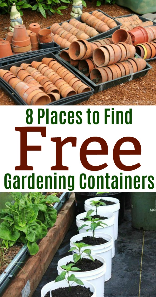 8 Places To Find Free Gardening Containers One Hundred Dollars A