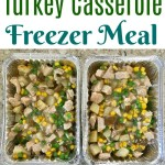 Turkey Casserole Freezer Meal with Mashed Potato Frosting