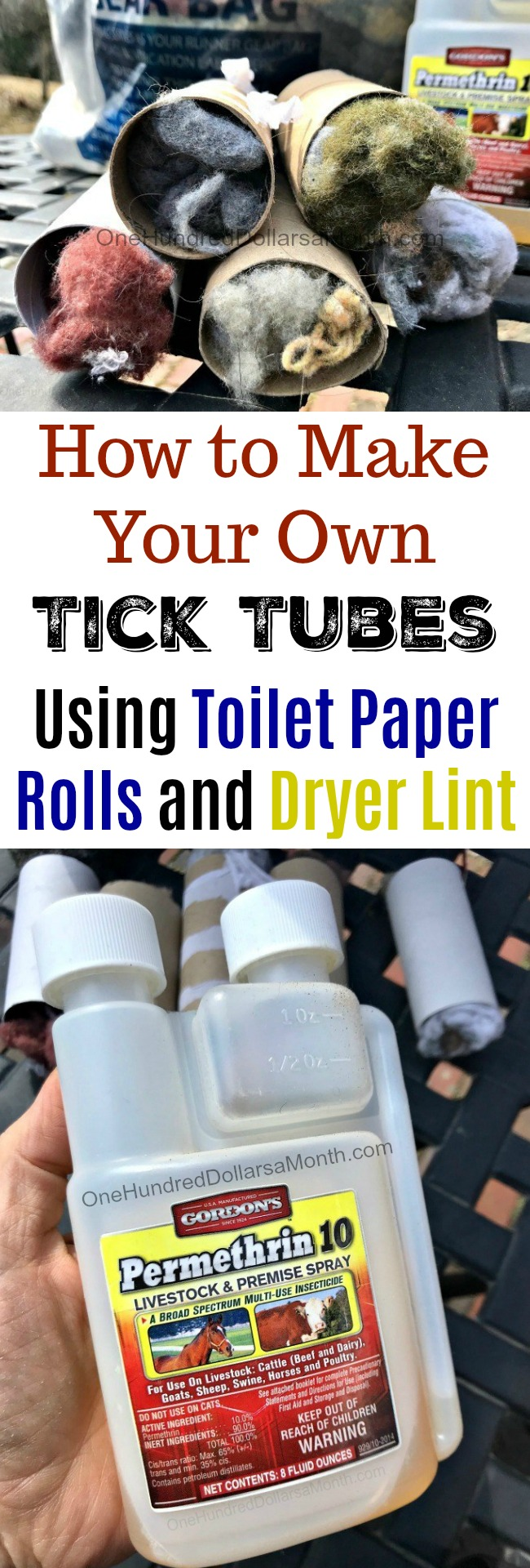 How to Make Your Own Tick Tubes - One Hundred Dollars a Month