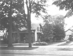 Maxon House (c. 1928) This house, once located at 317 Main Street, was the home of the Samuel A. Maxon family for over 50 years. The family built the house in 1875 and lived in it up until Mrs. Sylvia L. Maxon died. The property was sold and the house razed in 1929. (Courtesy Madison County Historical Society, #00.2185)