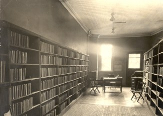 Oneida Free Library (1924) On April 30, 1924, Miss Nellie Mirick unlocked the door to this room in the old Chamber of Commerce Building on Lenox Avenue and opened the Oneida Free Library to the public for the first time. (Oneida Public Library Archives)