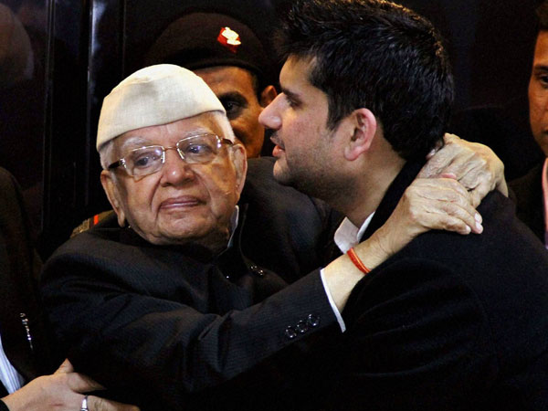 Image result for ND tiwari's son
