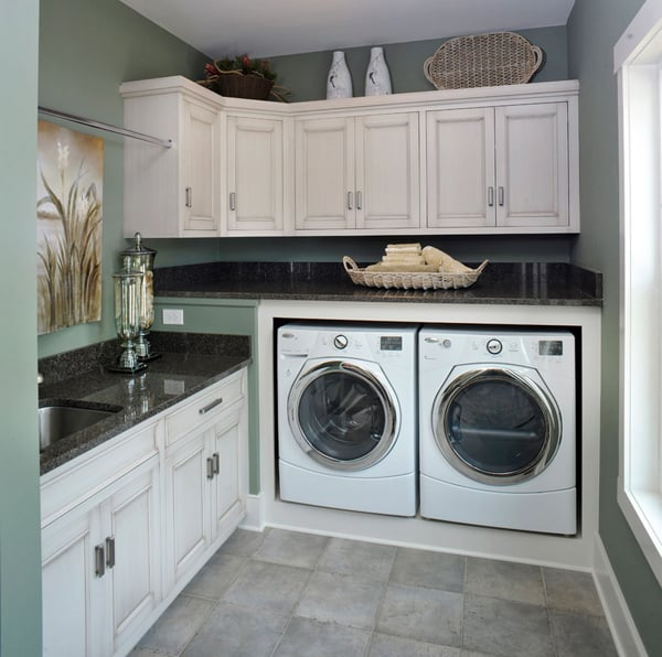 51 wonderfully clever laundry room design ideas on laundry room wall covering ideas id=17747
