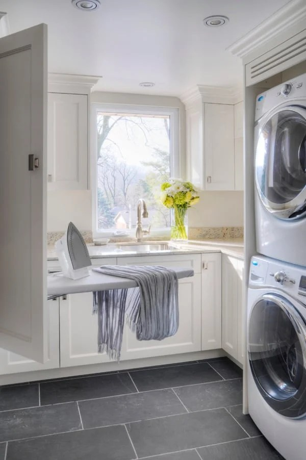 51 wonderfully clever laundry room design ideas on laundry room wall covering ideas id=66384