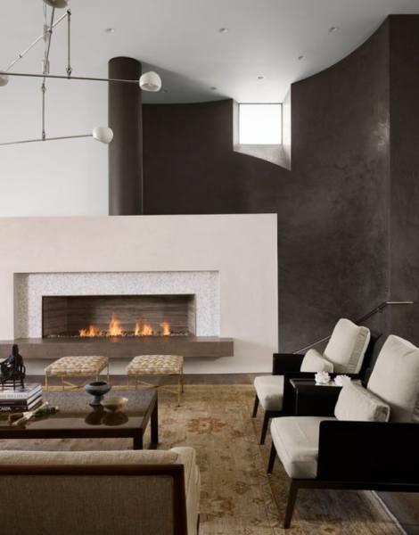 modern fireplace design ideas Room Interior Design Offset Fireplace