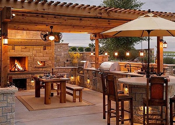 70 Awesomely clever ideas for outdoor kitchen designs on Backyard Kitchen Design id=46480