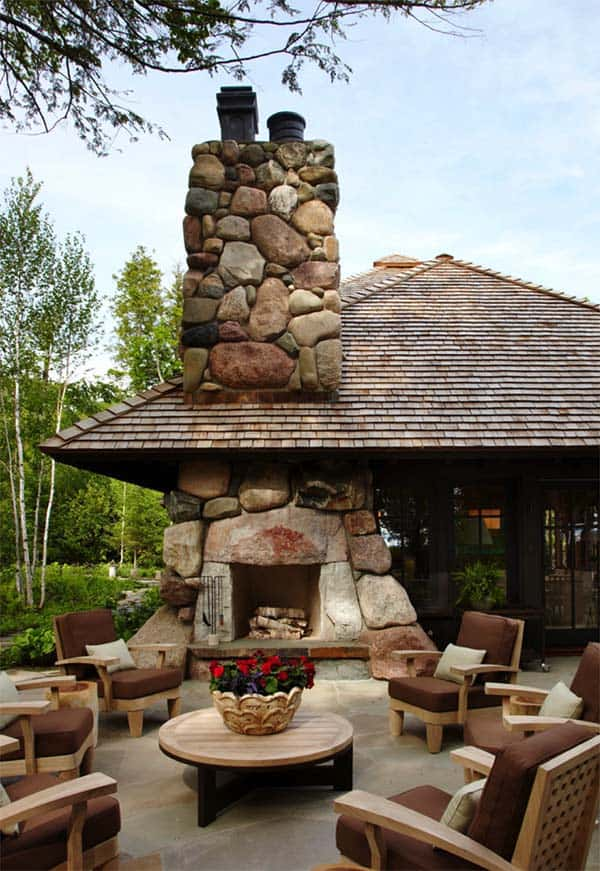 53 Most amazing outdoor fireplace designs ever on Amazing Outdoor Fireplaces  id=86450