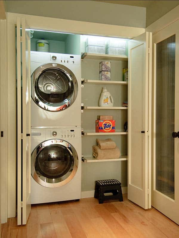 60 Amazingly inspiring small laundry room design ideas on Small Laundry Ideas  id=78299