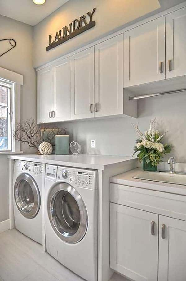 60 Amazingly inspiring small laundry room design ideas on Laundry Room Decor Ideas  id=62692