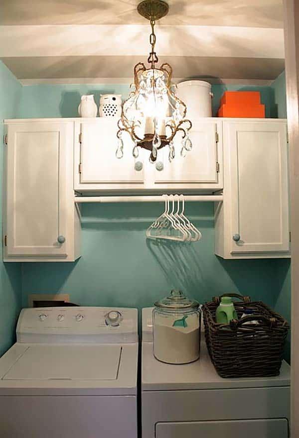 60 Amazingly inspiring small laundry room design ideas on Laundry Cabinets Ideas  id=67071