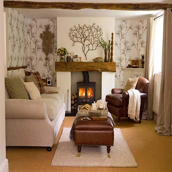 38 Small yet super cozy living room designs on Small Space Small Living Room With Fireplace  id=64962