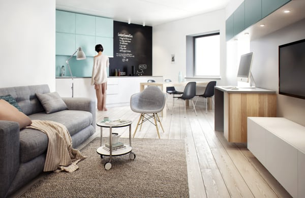 Visually Pleasing One Bedroom Apartment Interiors In Russia