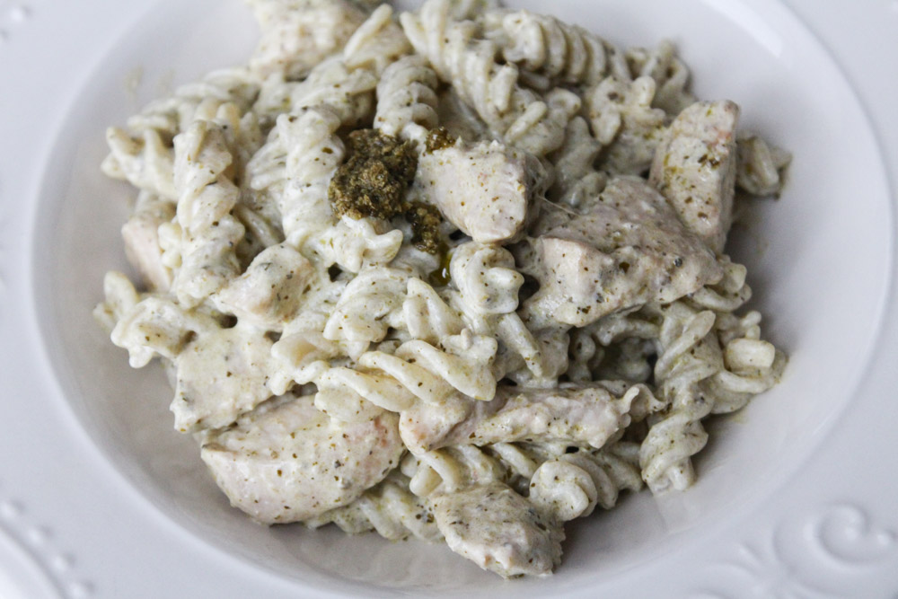 Creamy Pesto Pasta Dish With Chicken