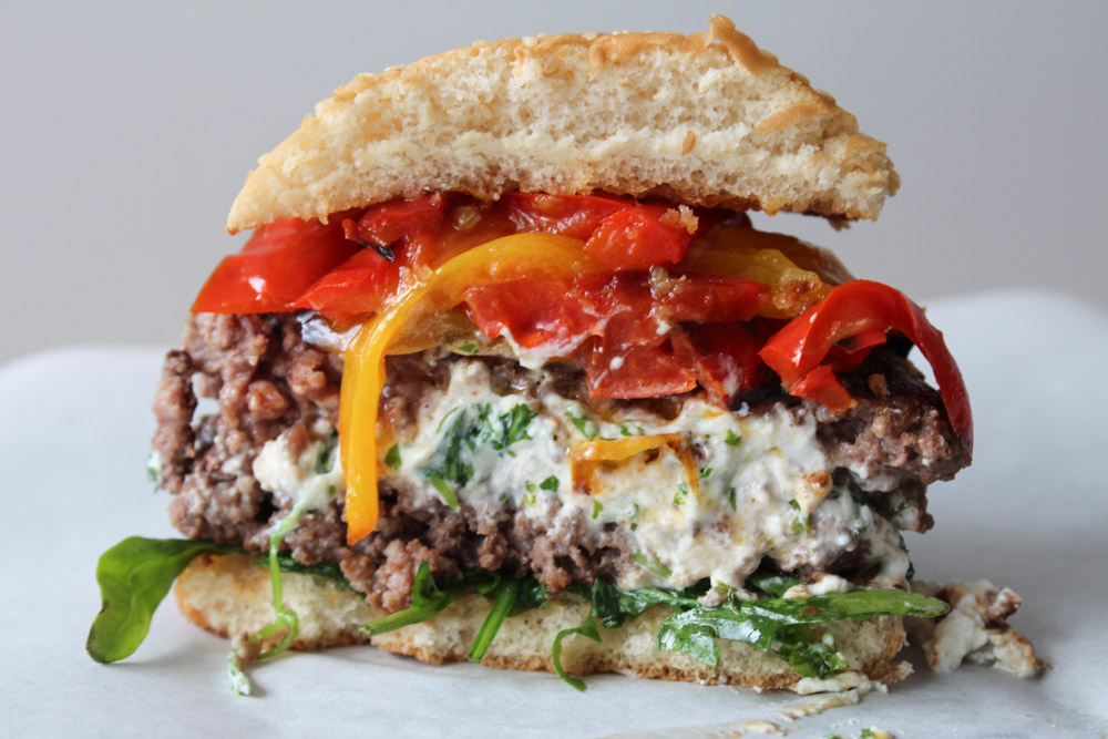 Greek Inspired Burgers