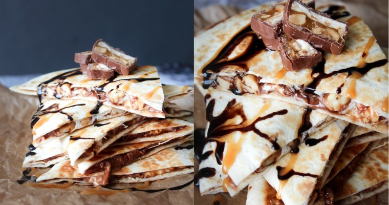Snickers Quesadillas