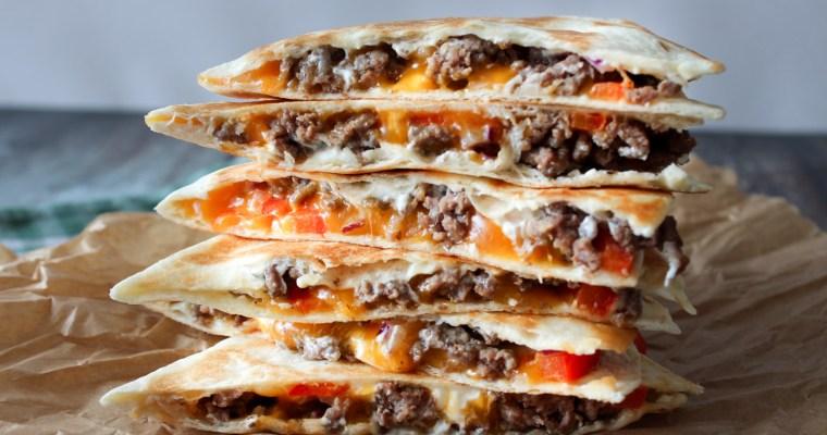 Quesadillas Med Oksekød