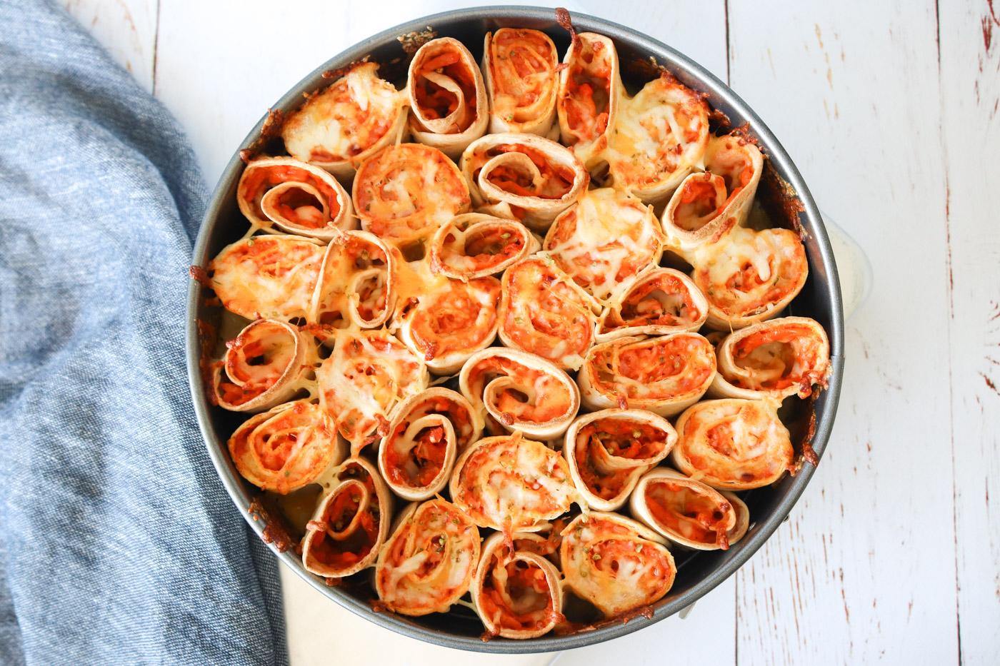 Pizza Taquitos Bake