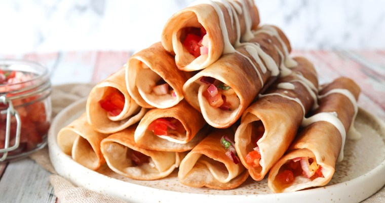 Sprøde Nachos Inspireret Taquitos Med Frisk Salsa