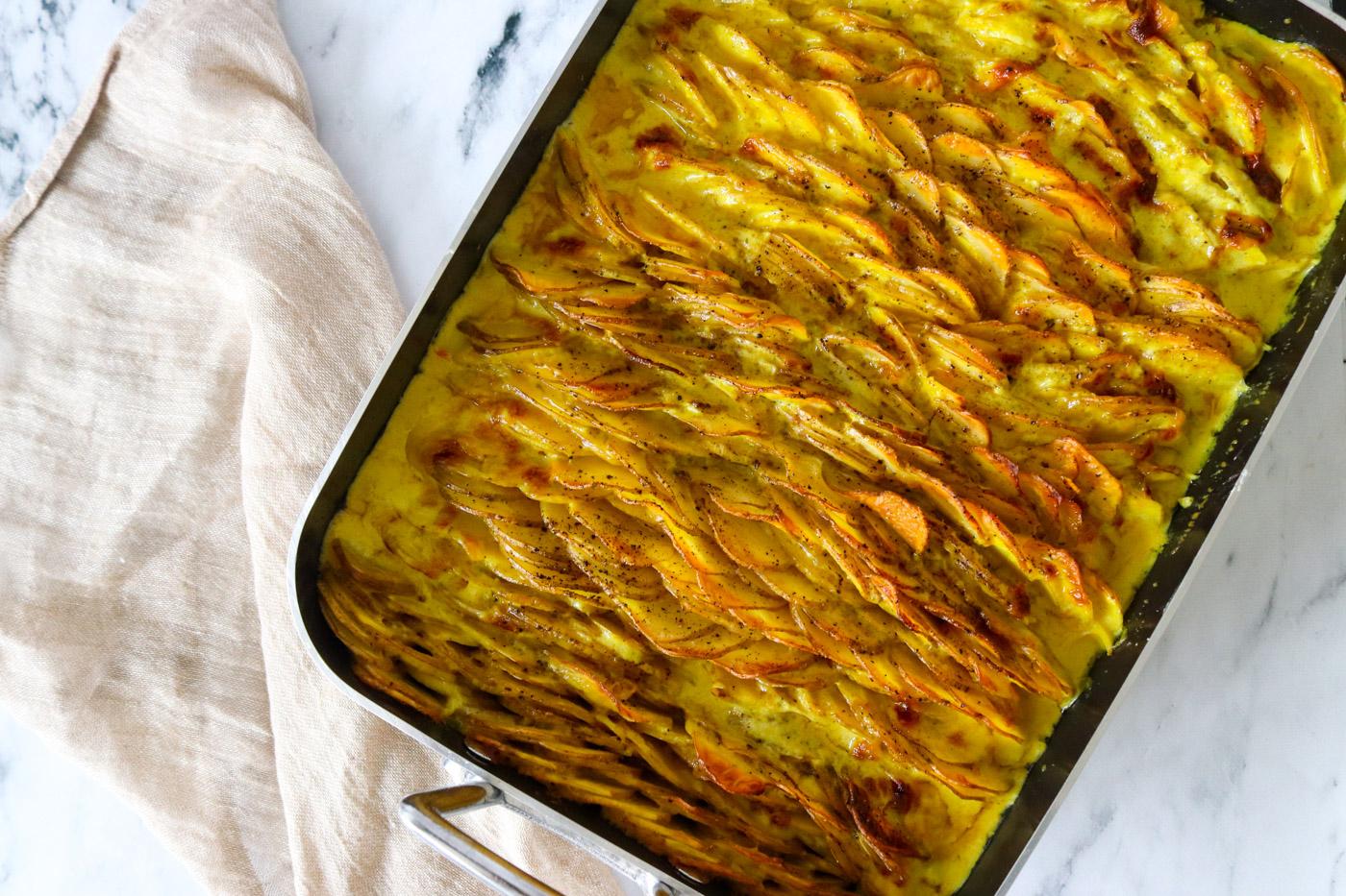 Flødekartofler I Karrysauce