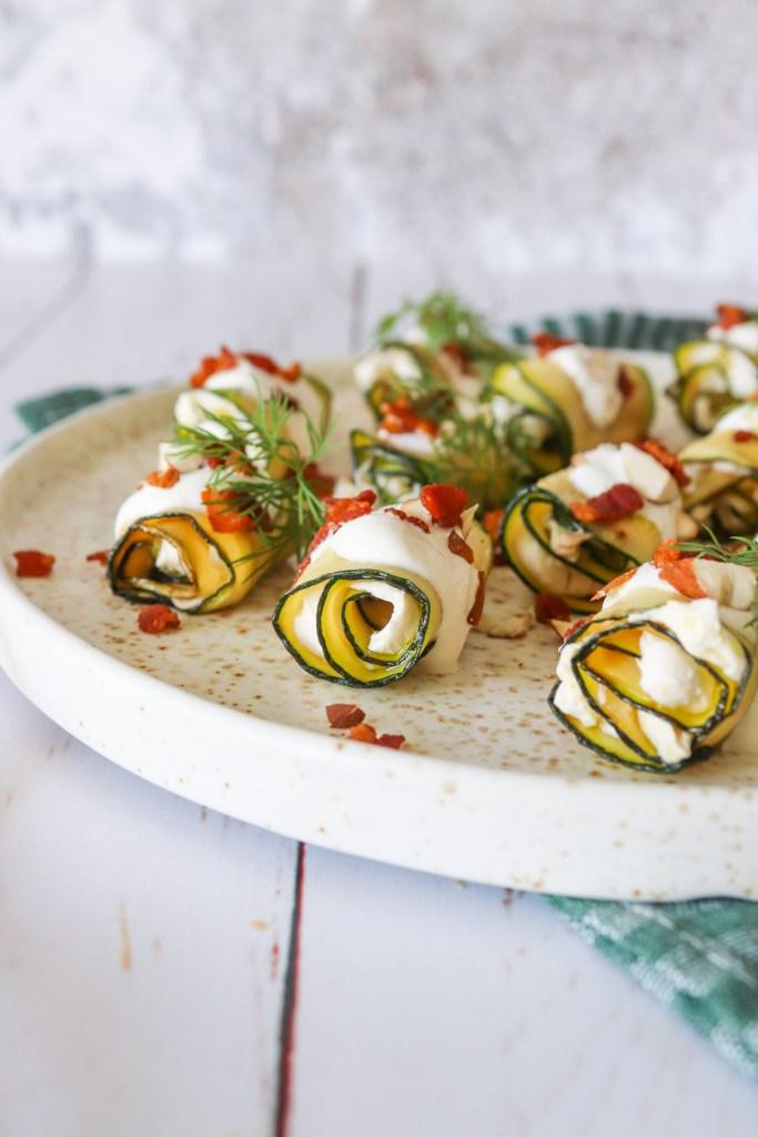 Squashruller Med Flødeost Og Bacon - En Lækker Tapas Idé