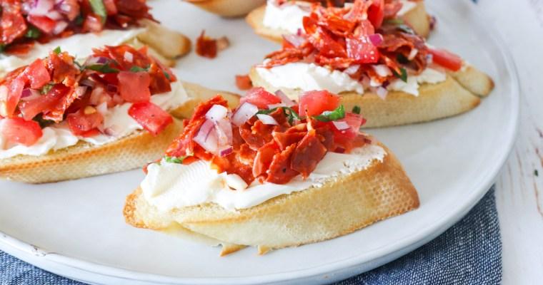 Brødhapsere Med Tomat Og Chorizo – Bruschetta Inspireret Brød