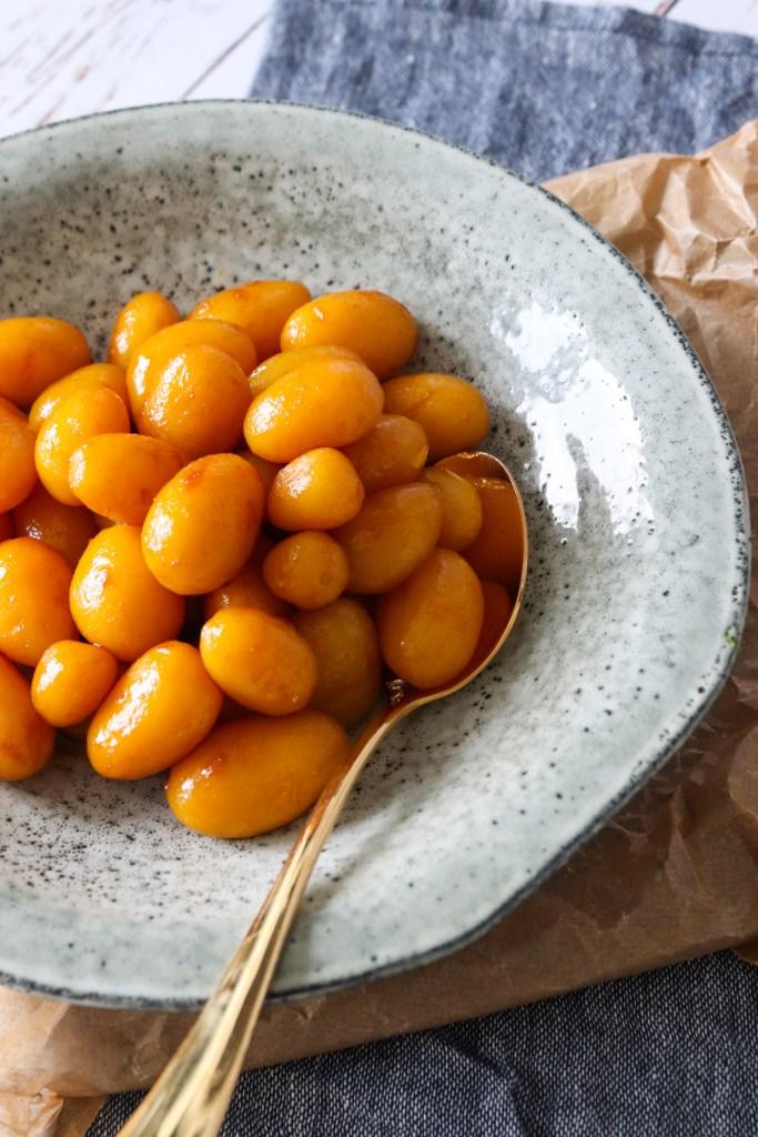 Nemme Brunede Kartofler - Brunede Kartofler Med Farin Og Sukker