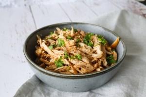 Pulled Kylling I Ovnen - Hjemmelavet Pulled Kylling