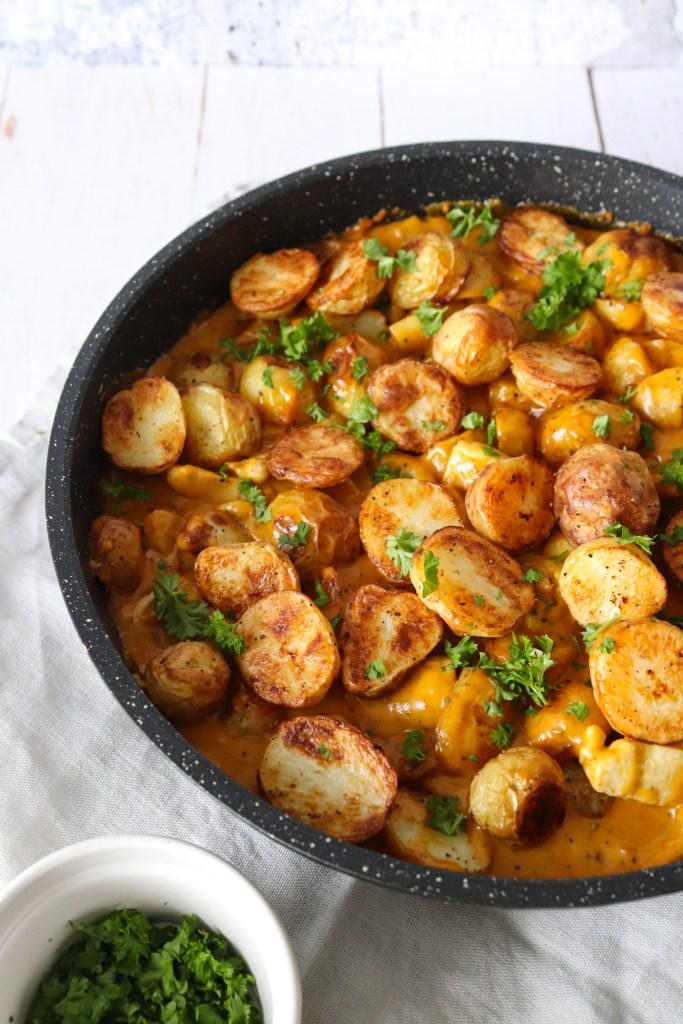 Kylling Og Kartofler I Whiskysauce - Lækker Aftensmad