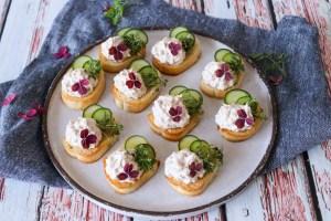 Nemme Hapsere Med Tunmousse Og Agurk - Lækker Snack