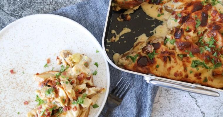 De Nemmeste Flødekartofler Med Bacon – Opskrift På Flødekartofler