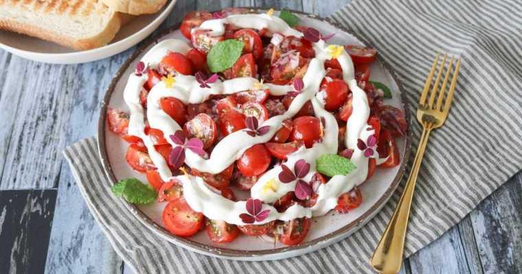 Tomatsalat Med Fetacreme – Marinerede Cherrytomater Med Feta