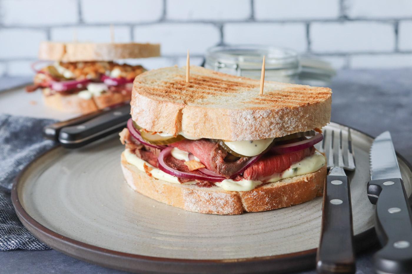 Bøf Bearnaise Sandwich