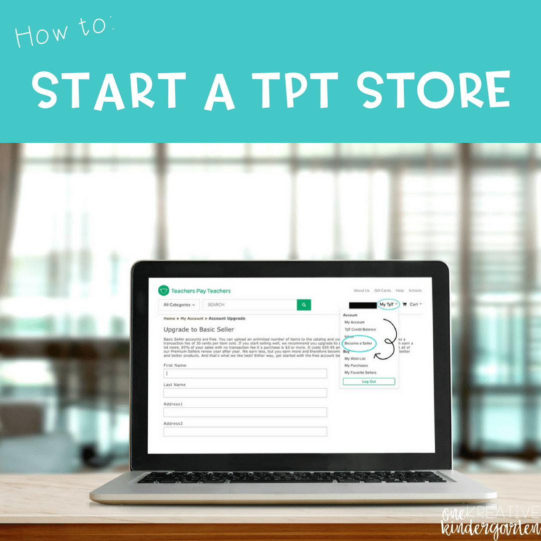 Starting a TpT Store: Step by Step Directions