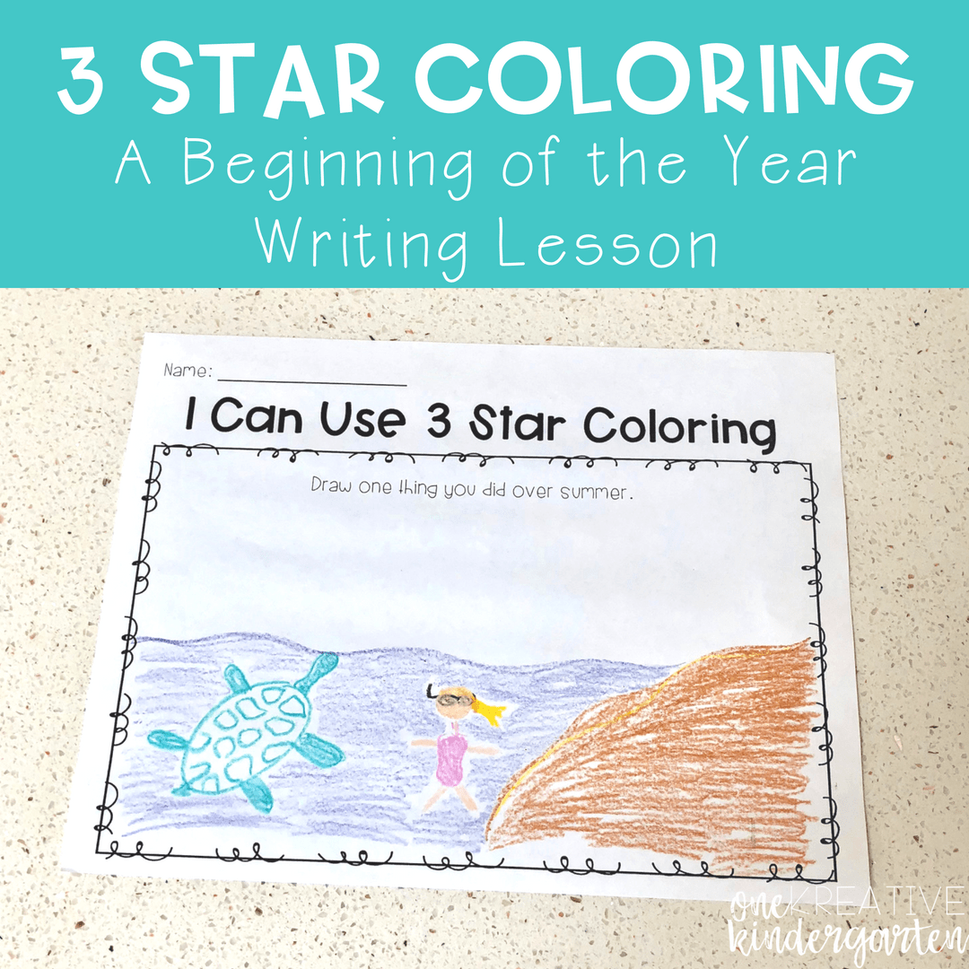 3 Star Coloring: A Beginning of the Year Writing Lesson | One ...