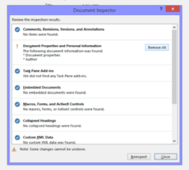 How to remove metadata in Word
