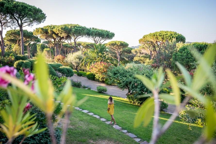 girl in the garden at Villa Marie Saint Tropez