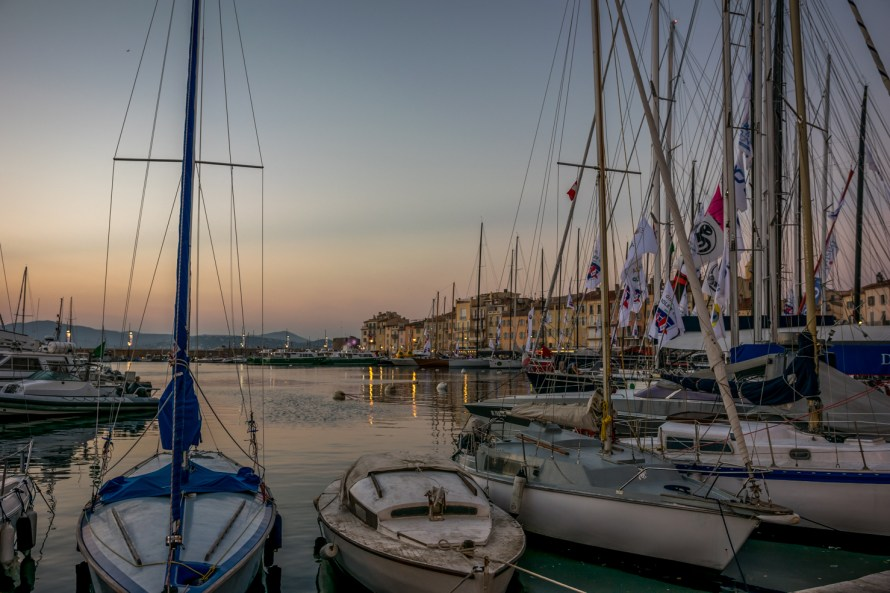 sailboats in a harbour