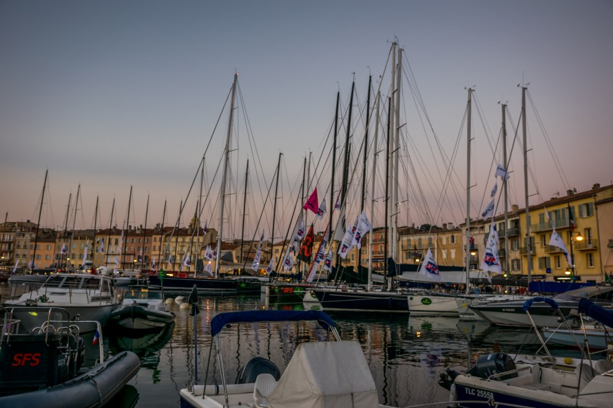 sailboats at a harbour in Saint Tropez