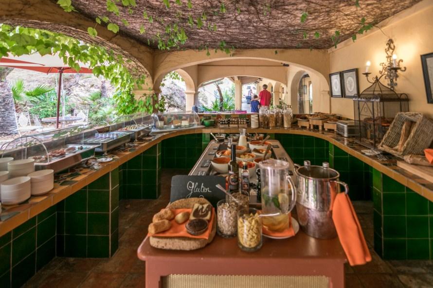 Breakfast buffet at Villa Marie Saint Tropez