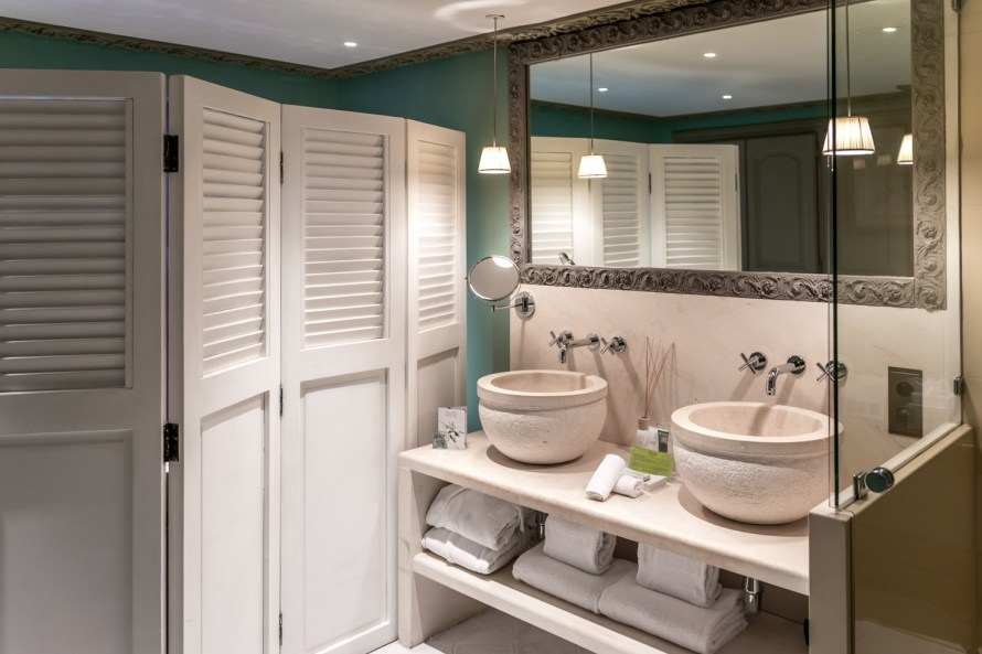 sink and mirror at Villa Marie Saint Tropez