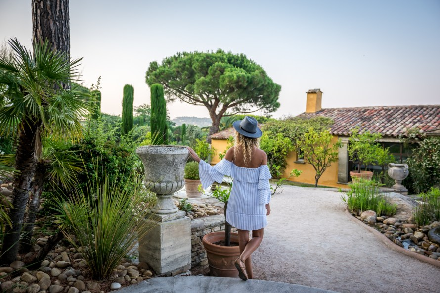 girl in the entrance to Villa Marie Saint Tropez