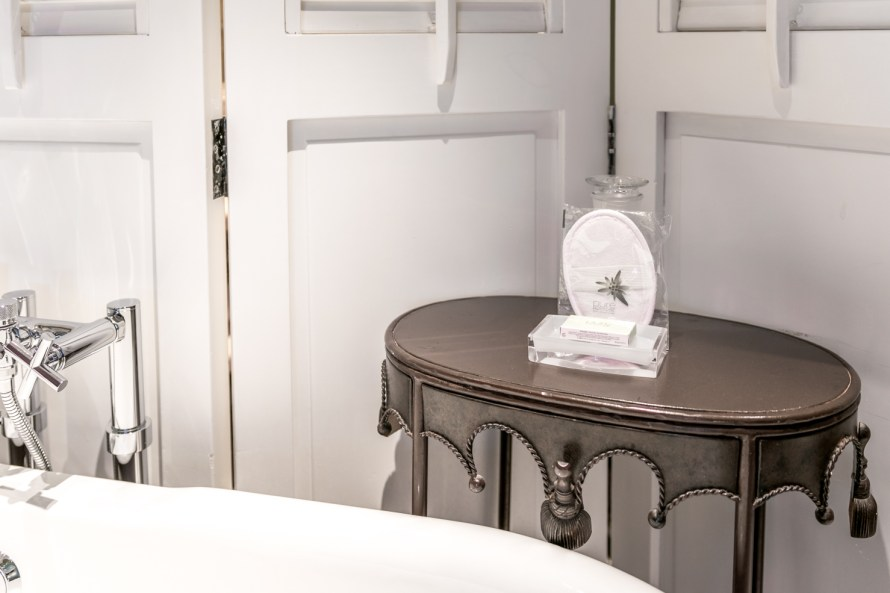 bathroom amenities at Villa Marie Saint Tropez