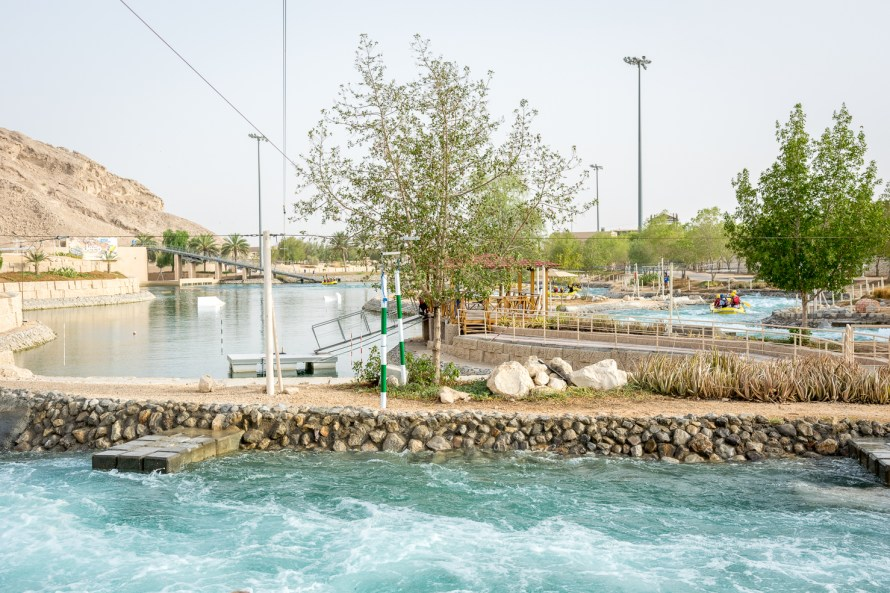 white water rafting wave park at wadi adventure